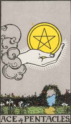 1 of Pentacles Tarot Card